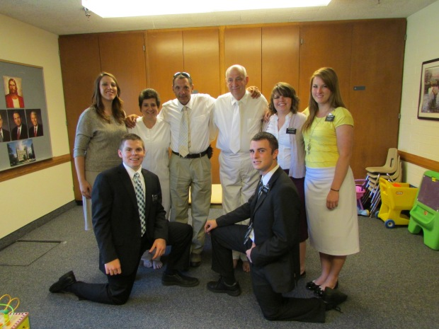 Donna and all missionaries 2013
