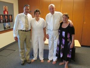 Donna's baptism 2013