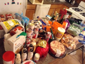 sean ingredients for christmas meals 2014